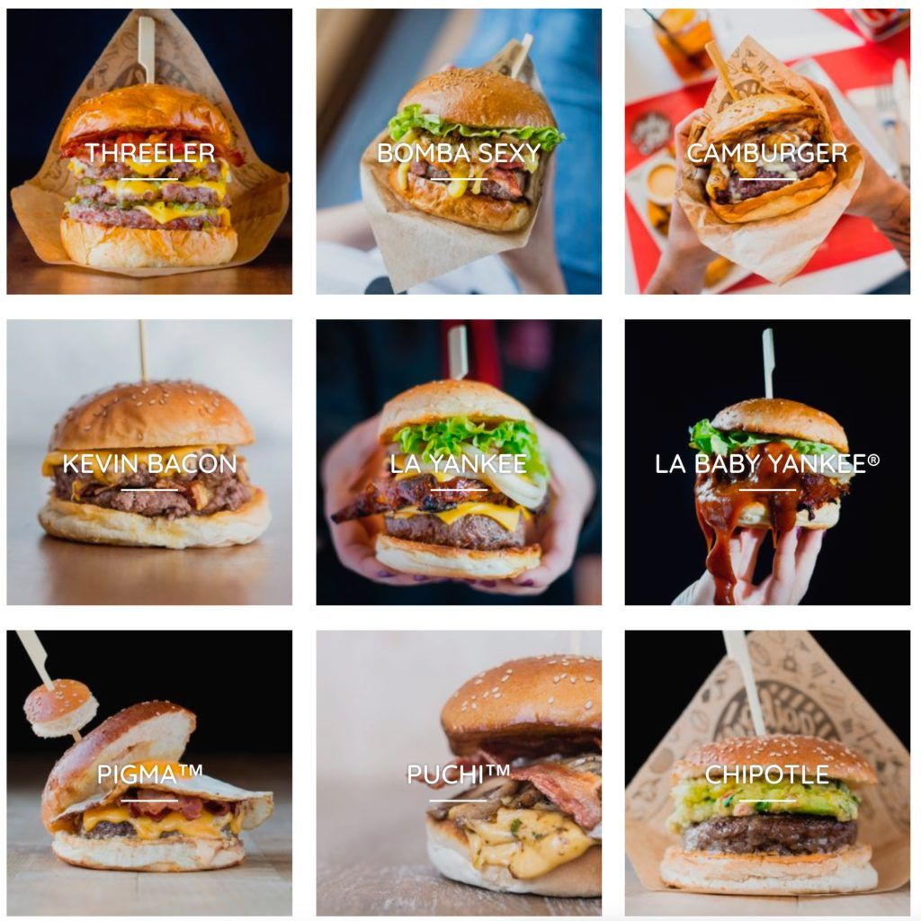Carta Burgers Goiko Grill - Comiviajeros