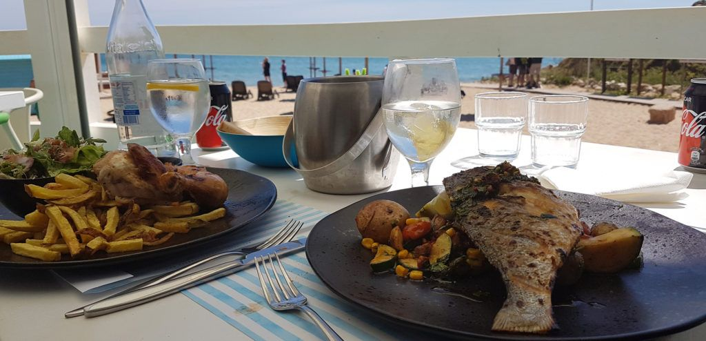 Comiendo con vistas en el Algarve