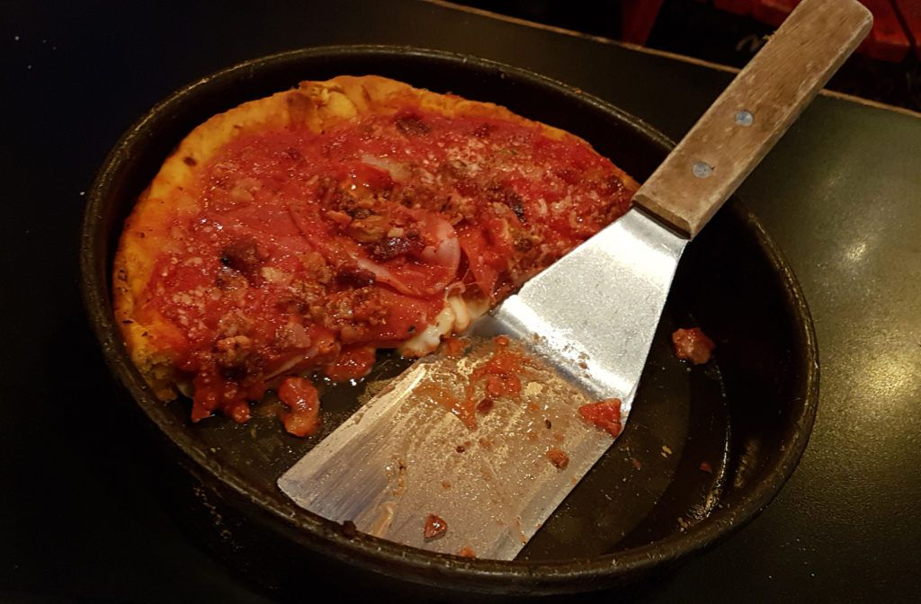 Deep dish pizza - Gino's East