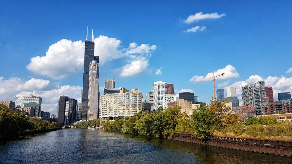 Willis Tower desde el río - Qué ver en Chicago