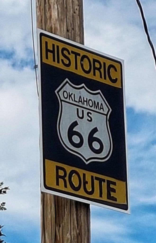 Etapa 4 de la Ruta 66: Señal de la Ruta en Oklahoma