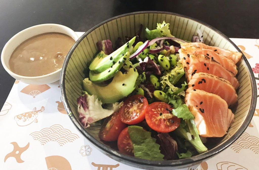 Ensalada de Tataki de salmón - Go Sushing