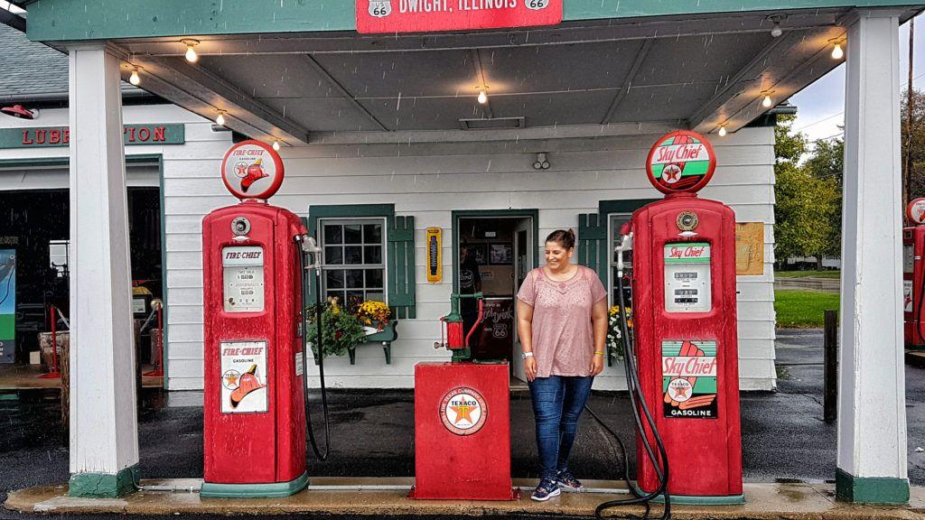 Etapa 1 de la ruta 66: Gasolinera en Dwight