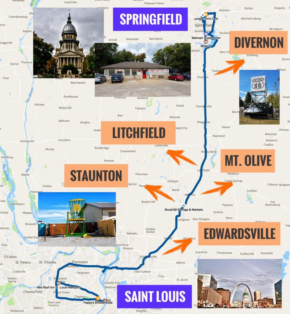Guía de la Ruta 66: Mapa de la etapa 2