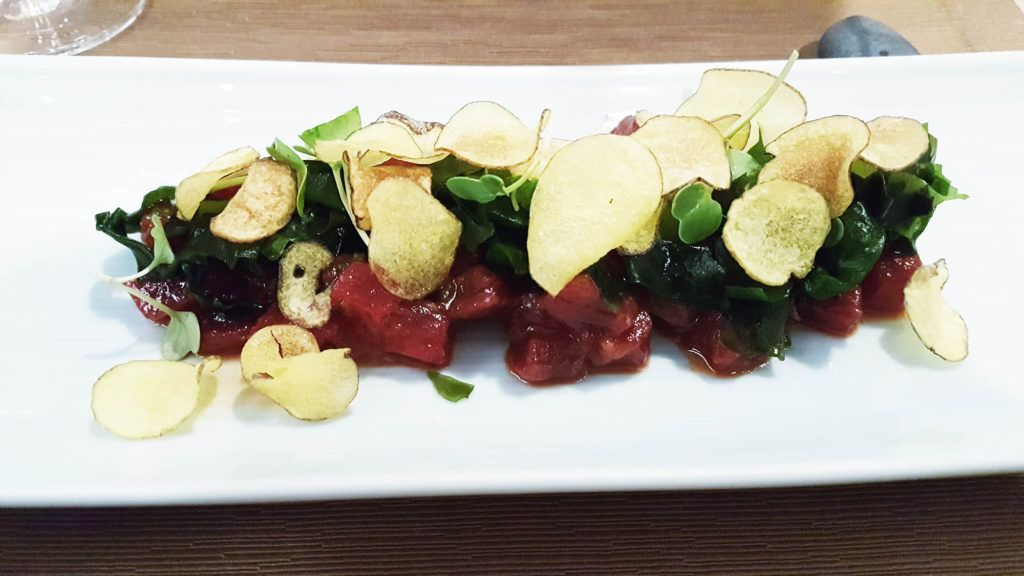 Tartar de atún picante en el restaurante Kazan