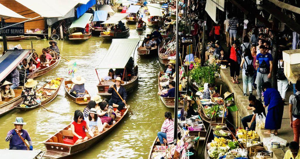 Guía de Tailandia: Mercado flotante Damnoem Saduak