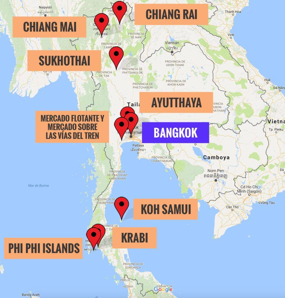 Guía de Tailandia: recorrido para 17 días