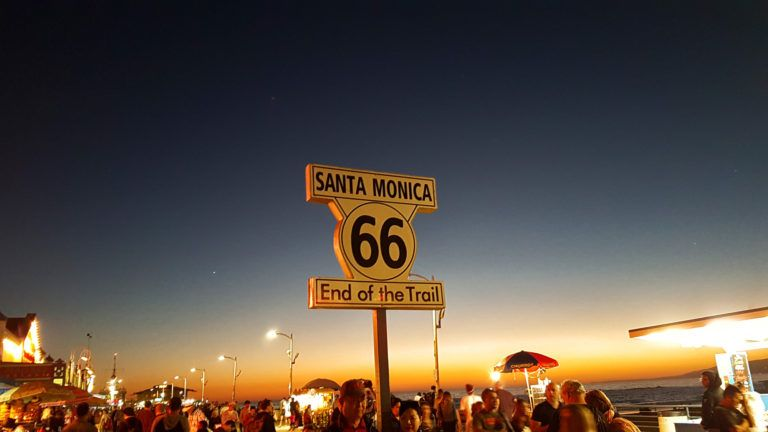 Etapa 11 de la Ruta 66: señal de final de la Ruta