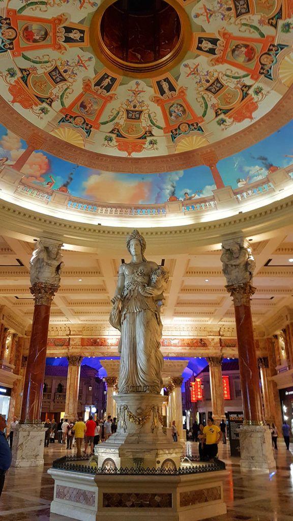 Pasillos del Caesar Palace - Qué hacer en Las Vegas
