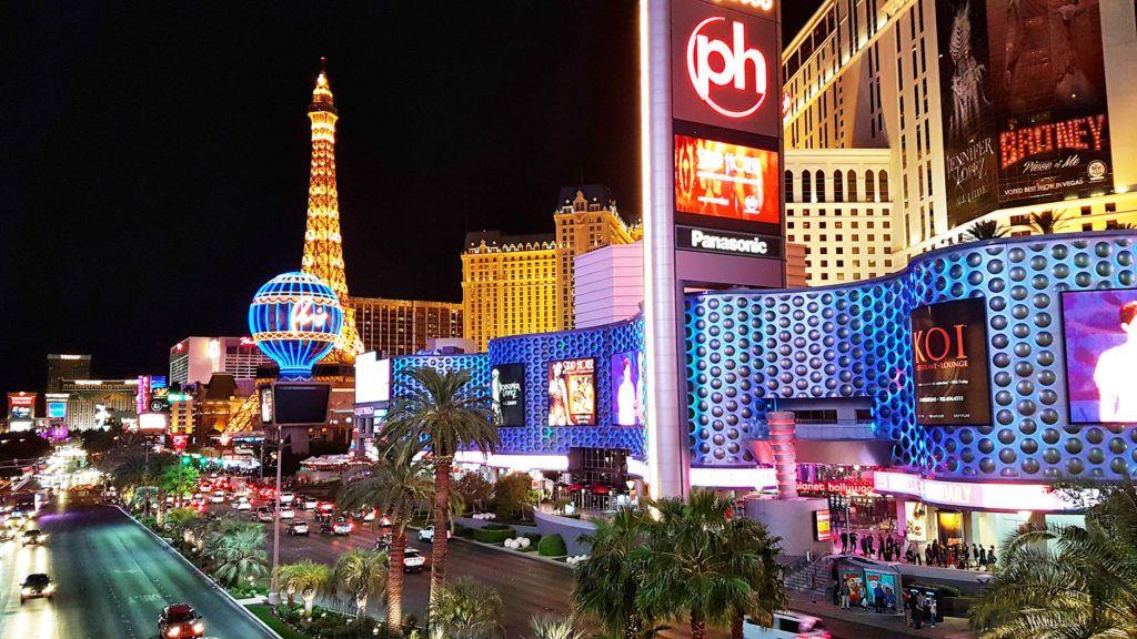 El Strip de noche - Qué hacer en Las Vegas