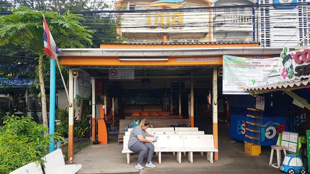 Estación de buses de Ayutthaya