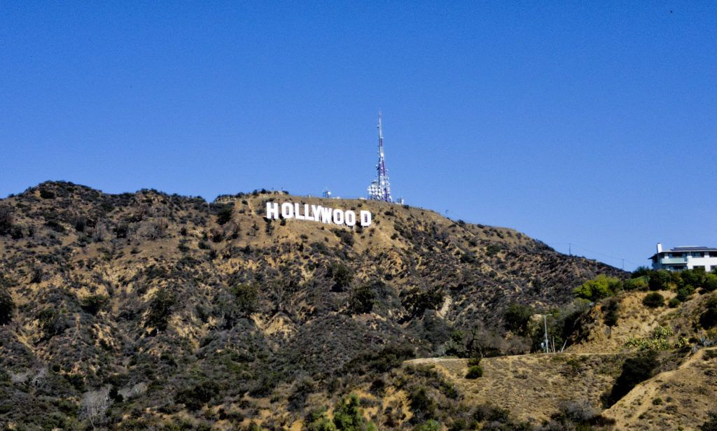 Cartel de Hollywood desde Lake Hollywood Park