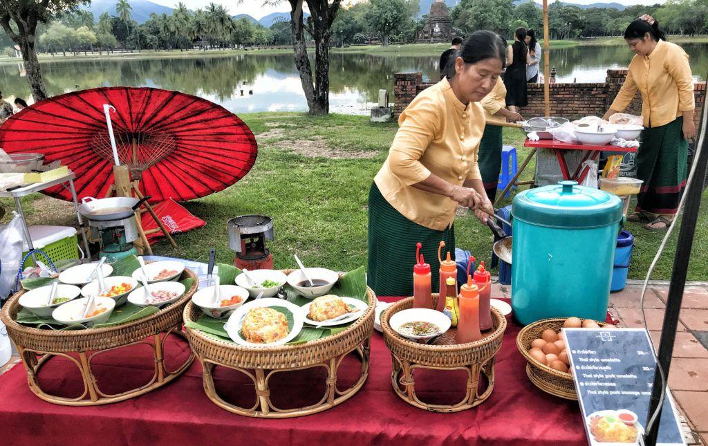 Mercado en el Parque Histórico de Sukhothai