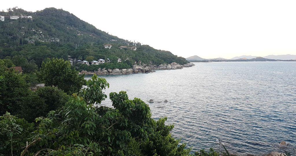 Vistas desde nuestra villa en Koh Samui