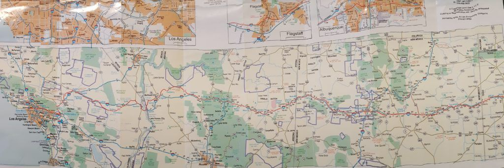 Mapa detallado de la Ruta 66