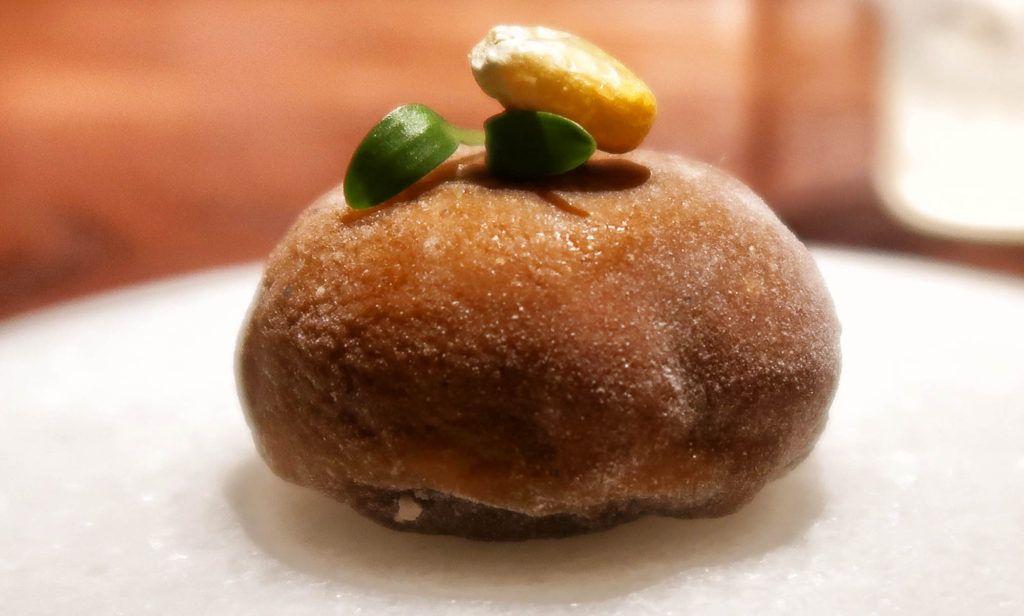 Restaurante dStage - Mochi de mole dulce, maíz y tuba