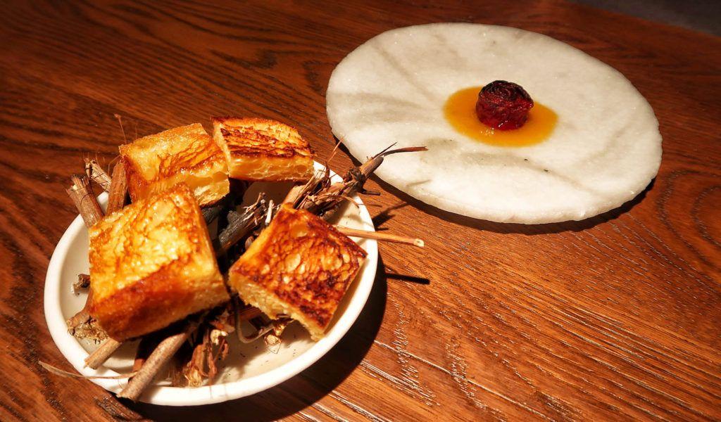 Restaurante dStage - Rosa de pimiento asado