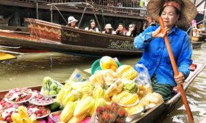 Mercado flotante Damnoen Saduak [VÍDEO]