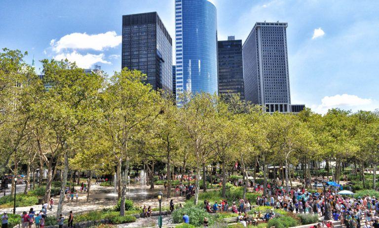 Imprescindibles en Nueva York: Battery Park - tiempo en Nueva York - mejor época para viajar a Nueva York