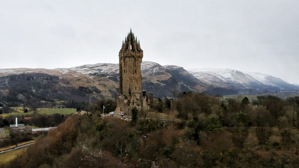 Ruta por Escocia en coche: Monumento a William Wallace en Stirling
