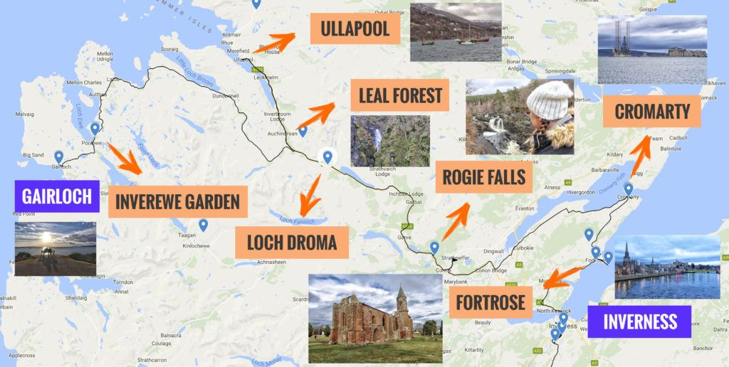 Recorrido y puntos de interés de la cuarta etapa de nuestra ruta por Escocia