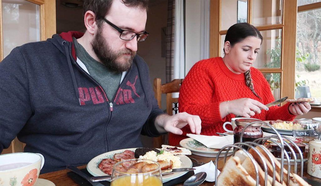 Ruta por Escocia en coche: Desayuno en Ach Na Sidhe