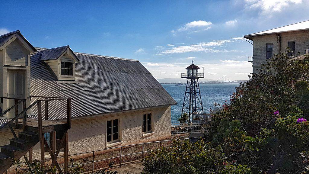 Visitar Alcatraz: vistas desde la zona más alta de la isla