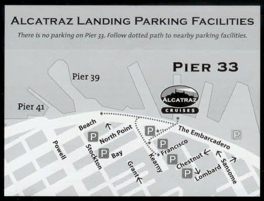 Visitar Alcatraz: mapa de parkings