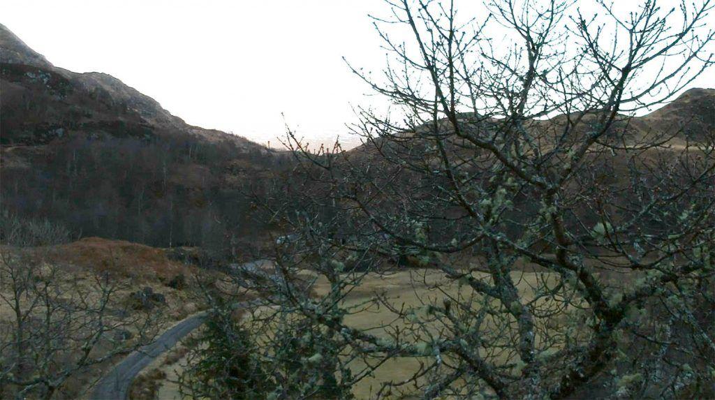 dron en Escocia