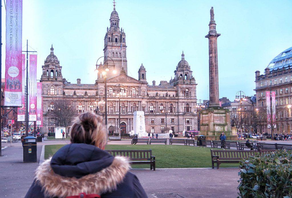 Ruta por Escocia en coche: George Square en Glasgow