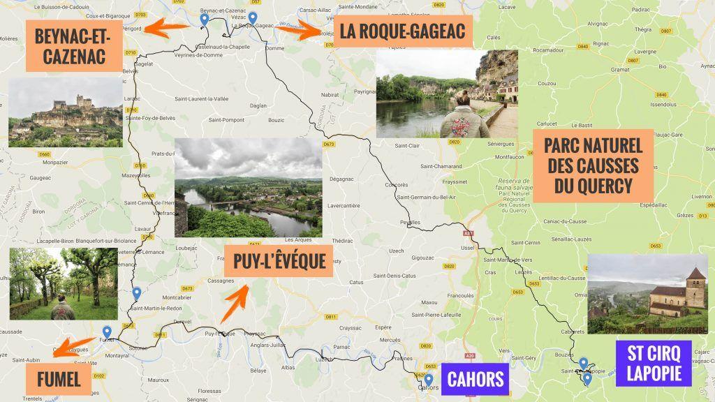 Cuarta etapa de nuestra ruta por el sur de Francia: Cahors - Saint Cirq Lapopie
