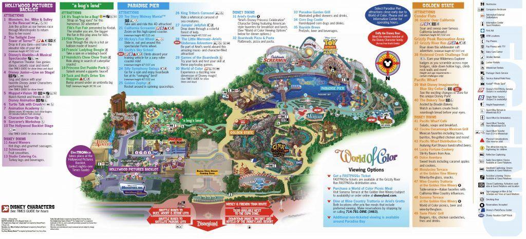 Mapa de Disney California Adventure