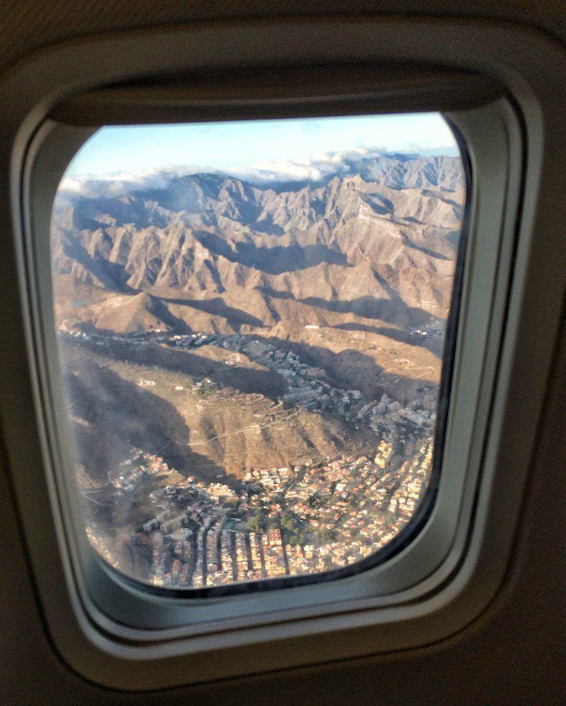 Tenerife en una semana: Vistas desde el avión de vuelta a Madrid