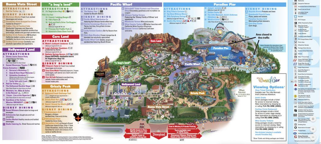 Mapa de Disney California Adventure