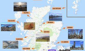 Mapa de Escocia: qué ver y puntos de interés más importantes