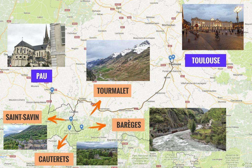 Segunda etapa de nuestra ruta por el sur de Francia: Pau - Toulouse