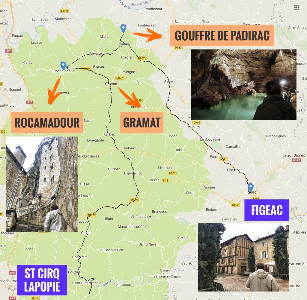Quinta etapa de nuestra ruta por el sur de Francia: Saint Cirq Lapopie - Figeac