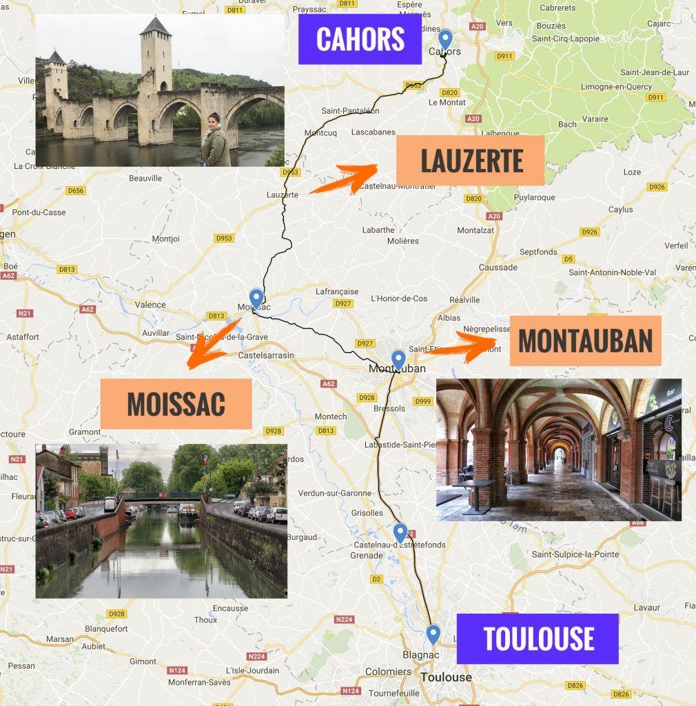 Primera etapa de nuestra ruta por el sur de Francia: Toulouse - Cahors