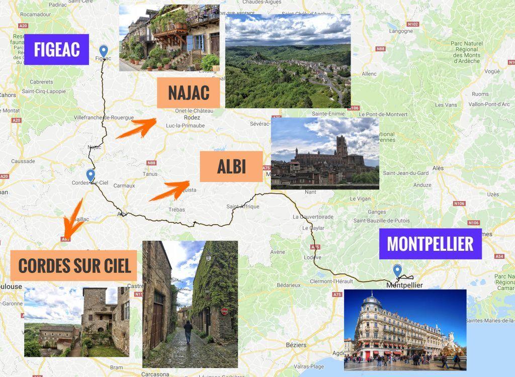 Sexta etapa de nuestra ruta por el sur de Francia: Figeac - Montpellier