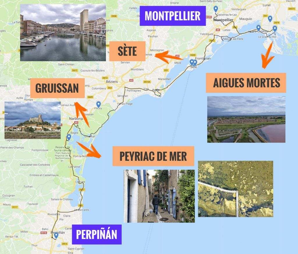 Séptima etapa de nuestra ruta por el sur de Francia: Montpellier - Perpiñán