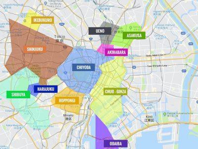 Barrios de Tokio [MAPAS + QUÉ VER + ITINERARIOS]