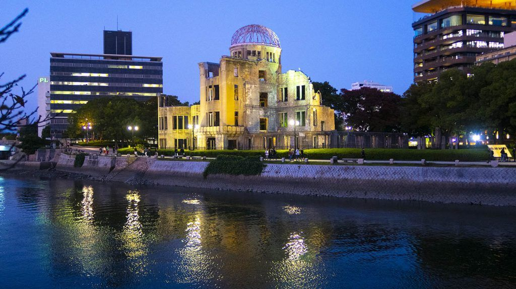 Mapa de Japón: Hiroshima seguro de viaje para Japón
