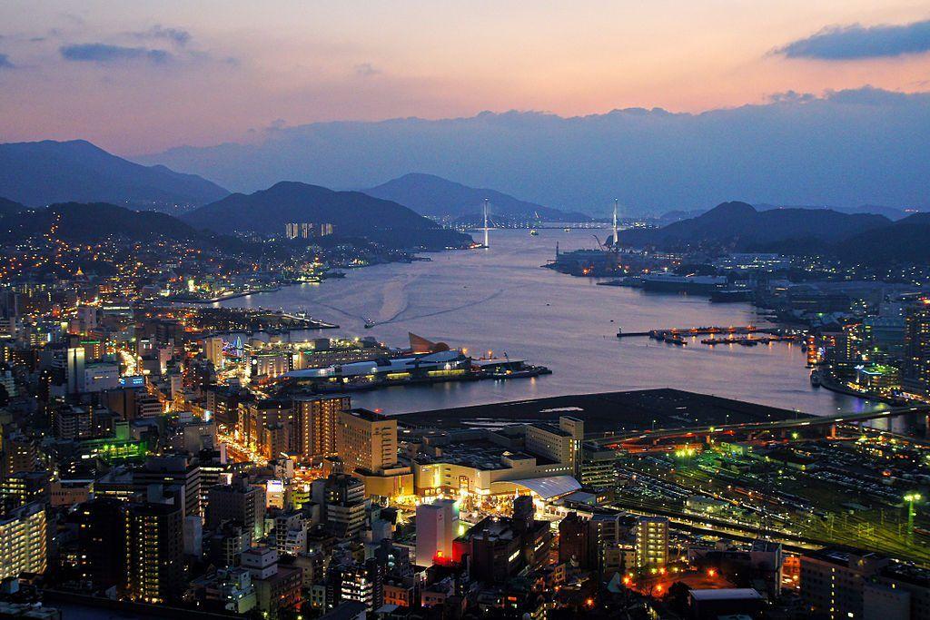 Mapa de Japón: Nagasaki. Fuente: Wikimedia Commons