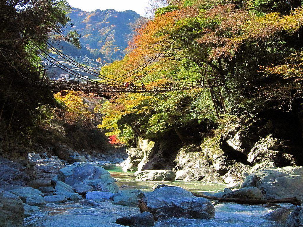 Mapa de Japón: Valle de Iya. Fuente: Wikimedia Commons
