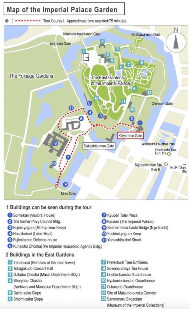 Mapa Imperial Palace