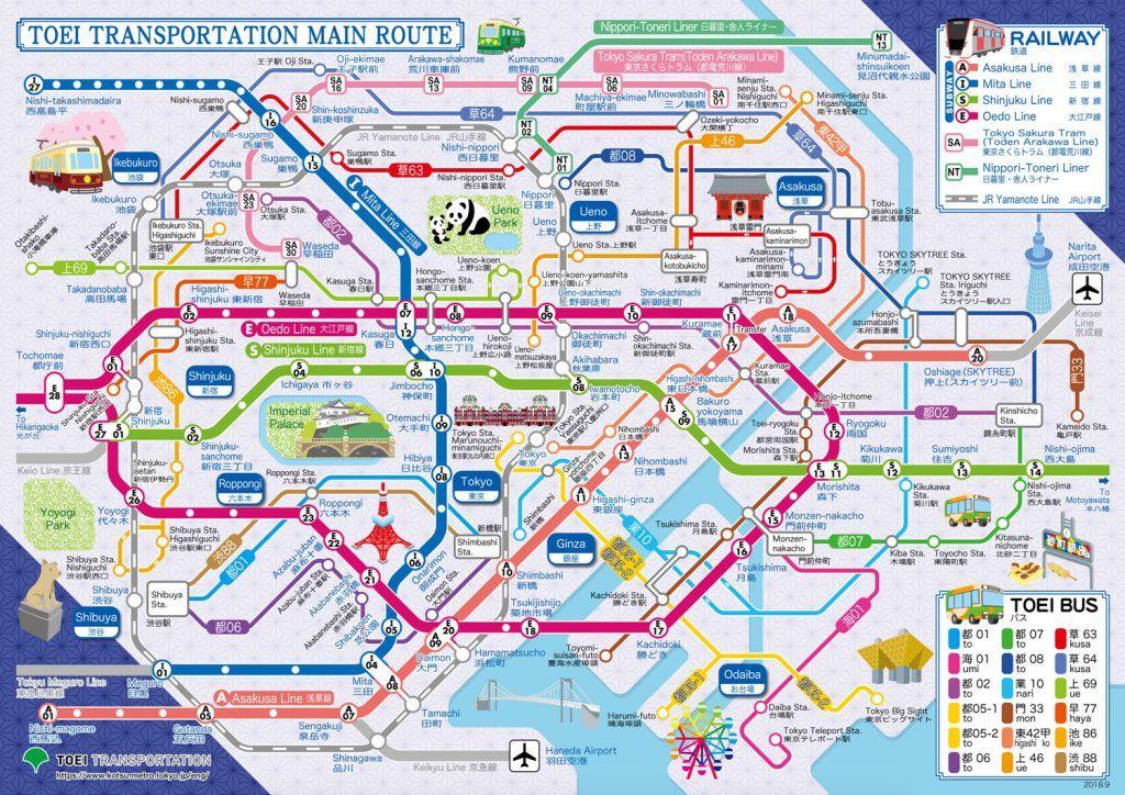 Transporte en Tokio: Mapa de autobuses