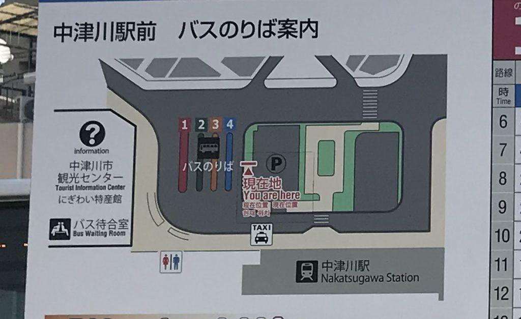 Mapa estación Nakatsugawa - Cómo ir de Tokio a Magome