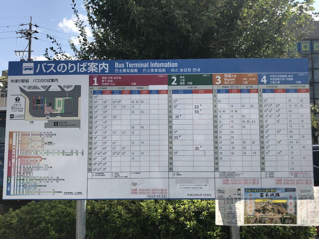 Horarios Bus Nakatsugawa - Magome