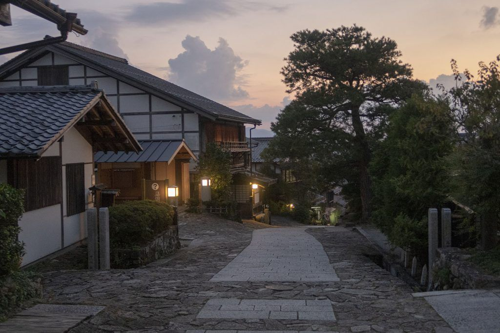 Ruta Nakasendo: Magome al anochecer
