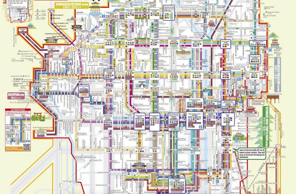 Mapa Bus Kioto